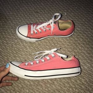 Coral Pink Converse All Stars